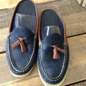 Sperry Top-Sider Navy Blue Mules